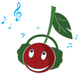 cherry music vector image vector image