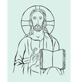 Christus with Bible vector image vector image