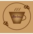 Coffee break brown symbol vector image vector image