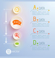 data pictograms conceptual background vector image vector image