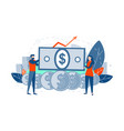 dollar rate growth business concept vector image vector image