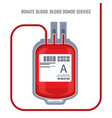 donate blood donor service plastic bag red icon vector image
