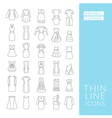 Dresses and clothes vector image vector image