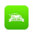 eco car icon green vector image vector image