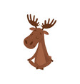 elk sitting with crossed legs moose doing yoga vector image