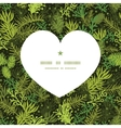 evergreen christmas tree heart silhouette pattern vector image
