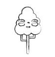 figure kawaii cute happy tree ecology vector image vector image