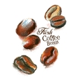 fresh coffee logo design template beans or vector image vector image