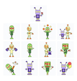 Funny robots set vector image vector image