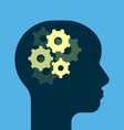 Gears working brain vector image