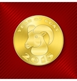 Goat coin vector image vector image