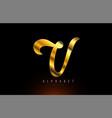 gold golden v alphabet letter logo company icon