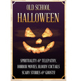 halloween old school party poster or banner vector image