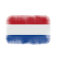 holland flag halftone vector image vector image