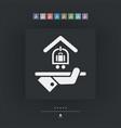 hotel icon baggage service vector image