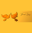 international peace day dove social media banner vector image vector image