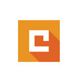 letter c logo icon design vector image vector image