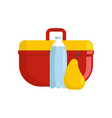 lunchbox icon flat style vector image vector image