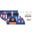 male president democrat winner united states vector image vector image