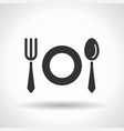 monochromatic tableware icon with hovering effect vector image