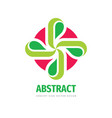 nature concept logo design cross with green vector image vector image