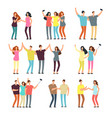 neighbors men and women characters friends groups vector image vector image