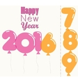New Year 2016 transparent balloons vector image vector image