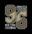 new york typography t shirt vector image vector image
