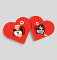 online dating app concept in vector image