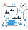 Outdoor cycling activities bike race itinerary vector image vector image