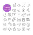 outline icon set pictogram set marketing vector image vector image