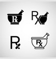 pharmacy logo icon set vector image vector image