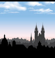 prague city skyline building silhouette cityscape vector image