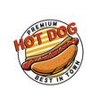 premium hot dog logo vector image