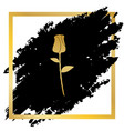 rose sign golden icon at vector image vector image