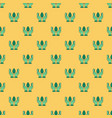 seamless pattern with linear green eco icons vector image vector image