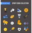 set winter and summer sport isolated icons vector image