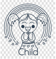 silhouette of childrens creativity girl vector image vector image