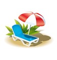 Summer vacation on the beach vector image vector image