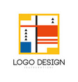 suprematism logo design abstract modern geometric vector image vector image