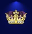 tiara with precious stones 4 vector image vector image