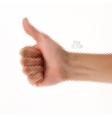 Triangle gesture hand vector image