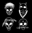 urban street hip hop gangsta rapper skulls in vector image