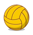 Volleyball ball isolated on white vector image vector image