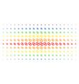 wedding rings spectrum halftone matrix vector image