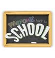 welcome back to school chalkboard banner isolated vector image vector image