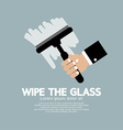 Wipe the Glass vector image vector image