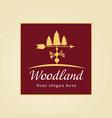 woodland logo vector image vector image