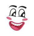 cheerful emoji emoticon or smiley face vector image