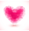 Bright pink crystal isolated heart vector image